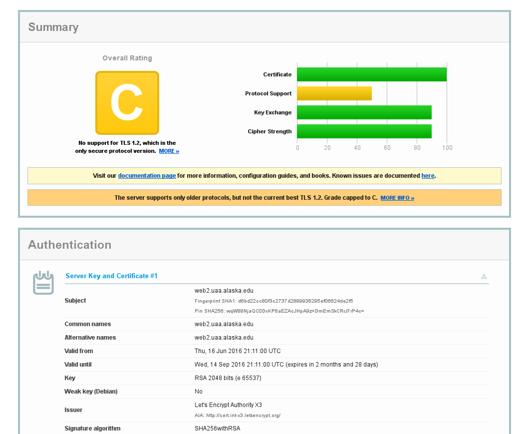 Let's Encrypt on Windows IIS Web Server - Choose Privacy