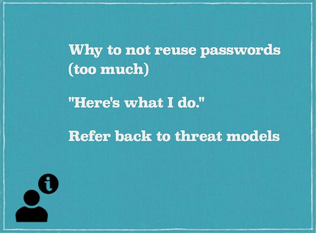 Slide - Why Not To Reuse A Password