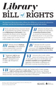 Library Bill of Rights Poster ALA Store